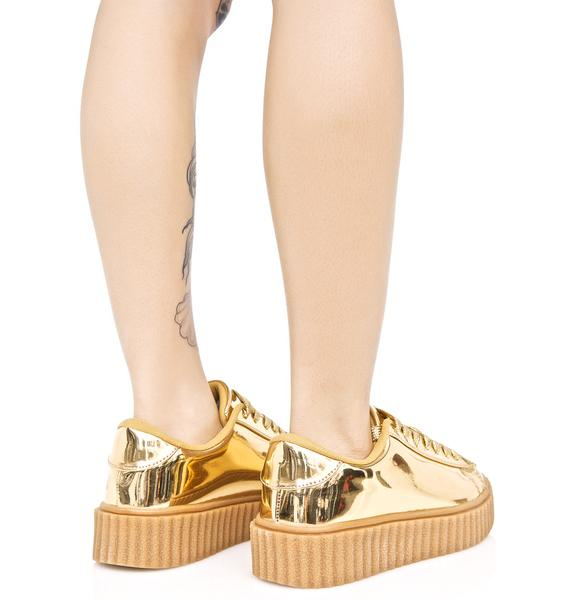 Trophies Metallic Creeper Sneakers
