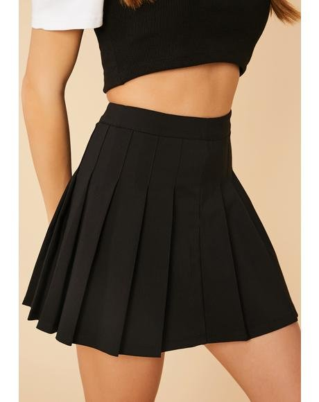 Wicked Make It Clear Pleated Mini Skirt