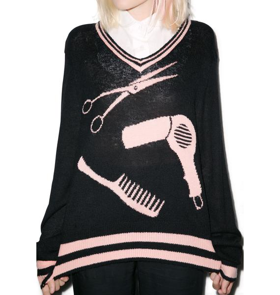 Wildfox Couture Make Over! V-Neck Sweater