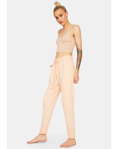 Iced Peach Sunny Skinny Sweatpants