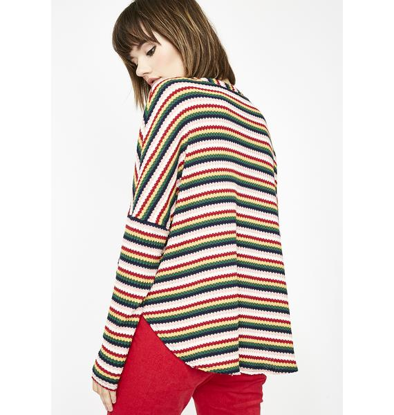 Sky The Get Down Striped Sweater