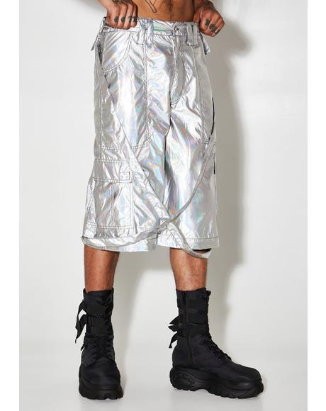Rave Action Holographic Cargo Pants