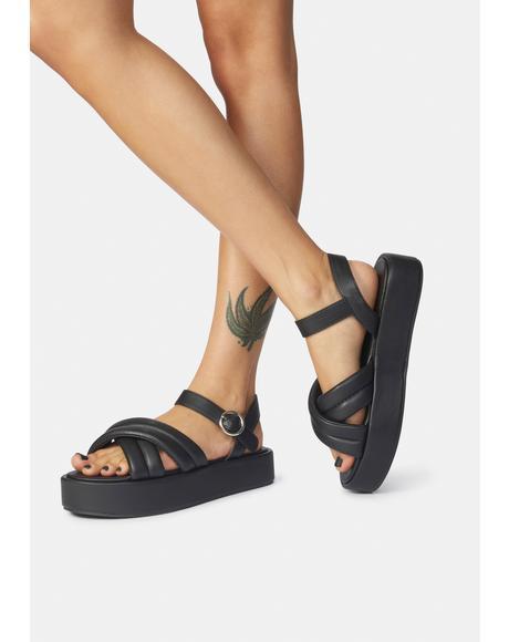 Black Kelsi Sandals
