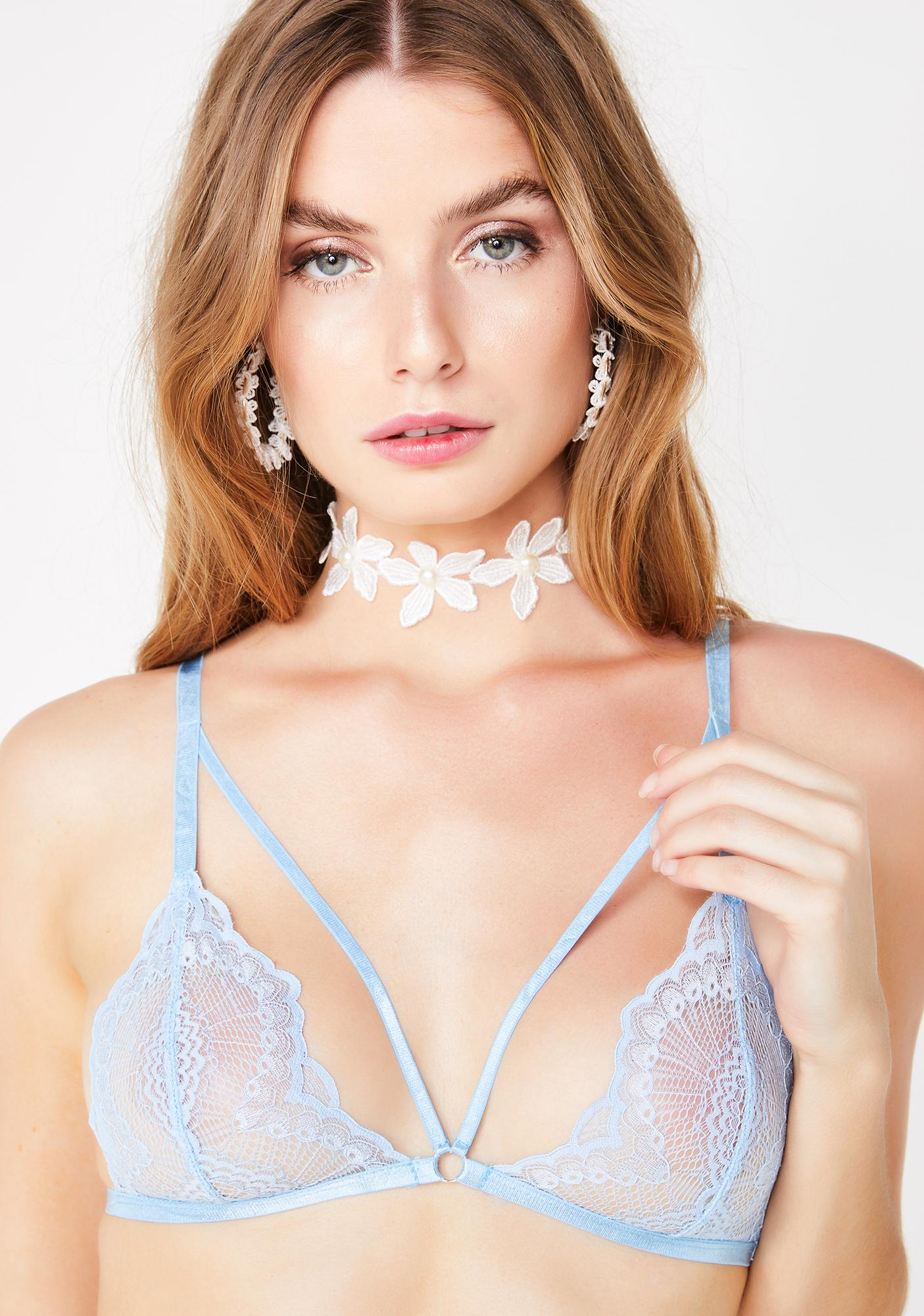 8c25ef6a1e Sugar Thrillz Lovely Skies Lace Bralette