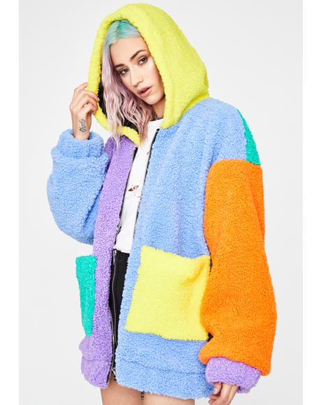 Candy Dreams Oversized Teddy Jacket