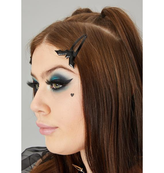 Caught In Ur Web Hair Clips