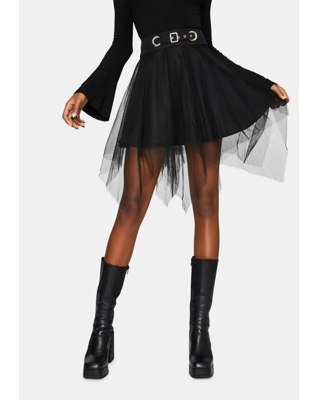 Dark Mesh Skirt
