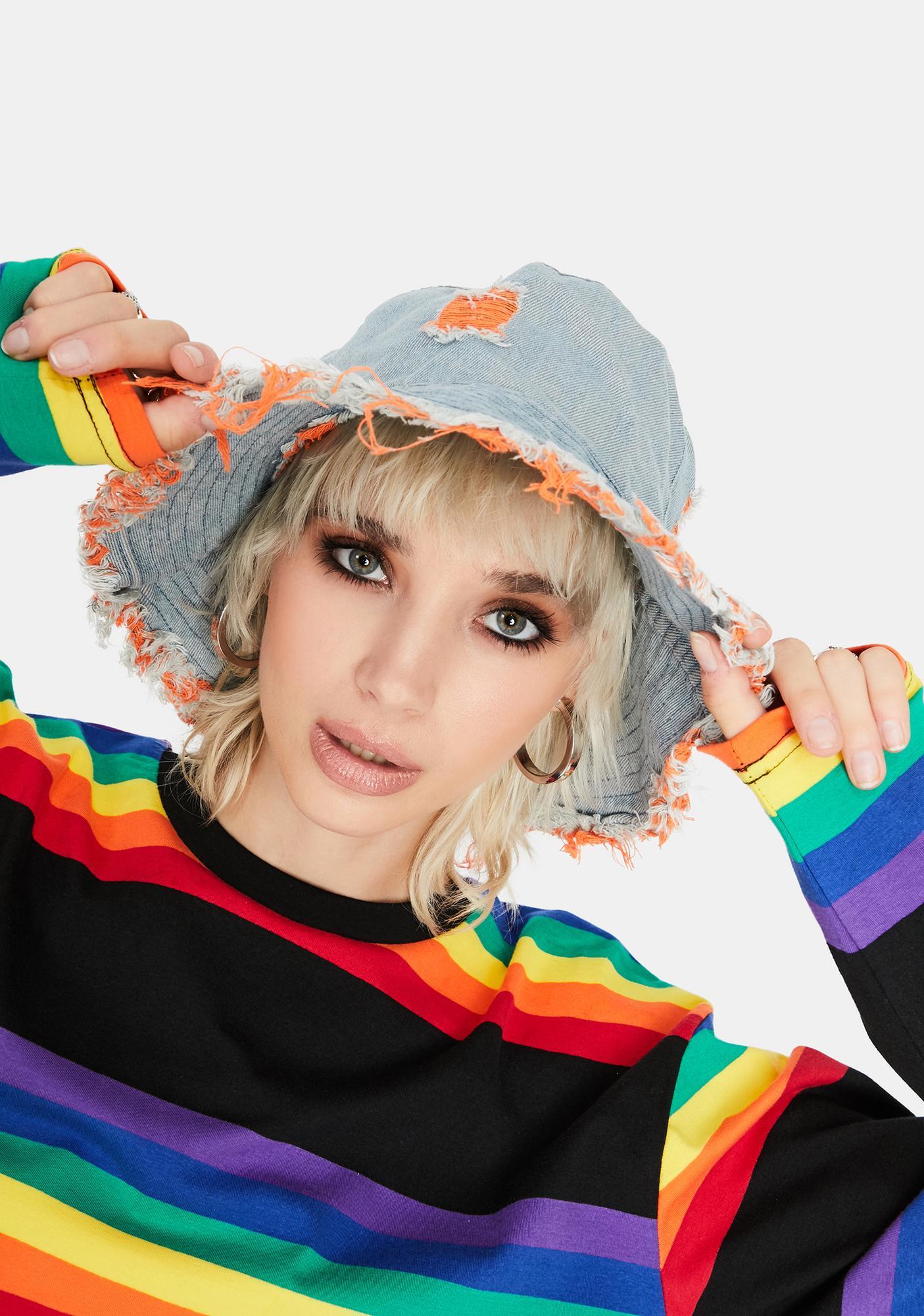 Crush Hidden Identity Denim Bucket Hat