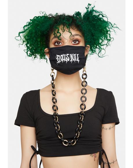 Acrylic Onyx Face Mask Holder Chain