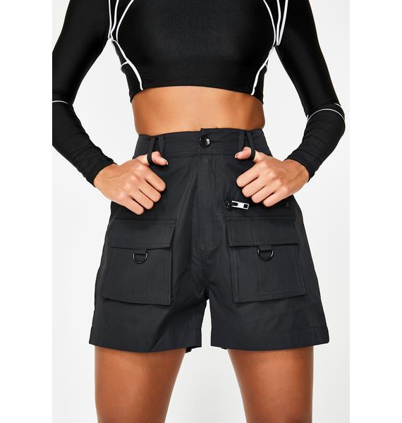 Nana Judy Black Matira Cargo Shorts