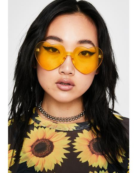 Clearly In Lust Heart Sunglasses