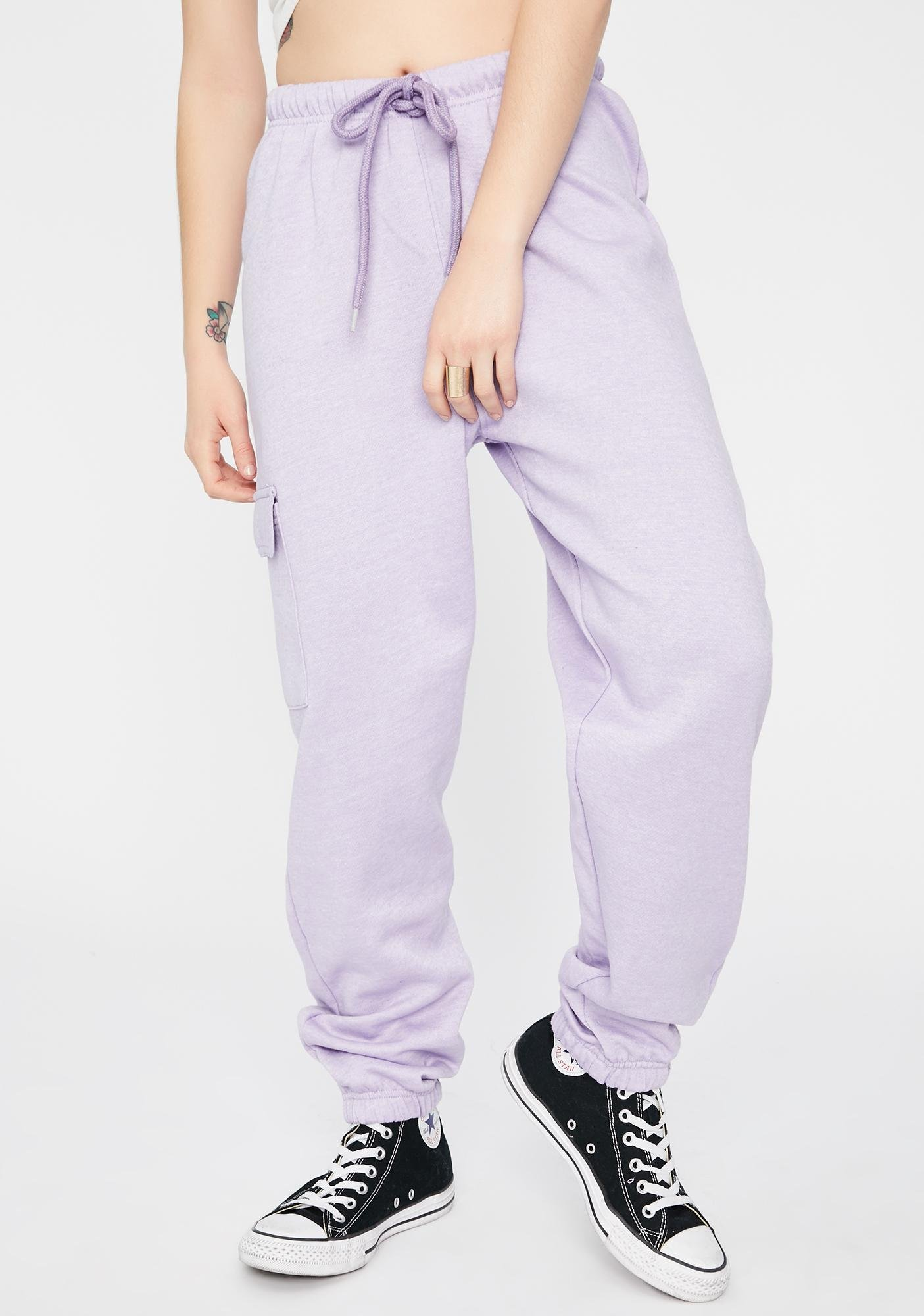 Daisy Street Cargo Pocket Jogger Sweatpants