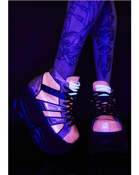 Candy Machina UV Reactive Platform Sneakers