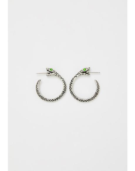 The Sophia Serpent Hoop Earrings