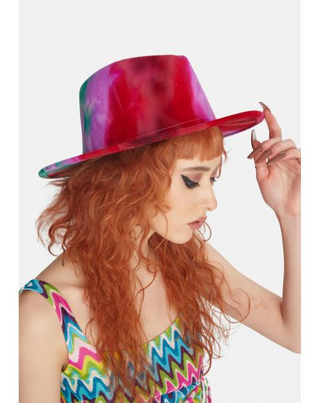 Fiery Skies Of Wonder Tie Dye Hat