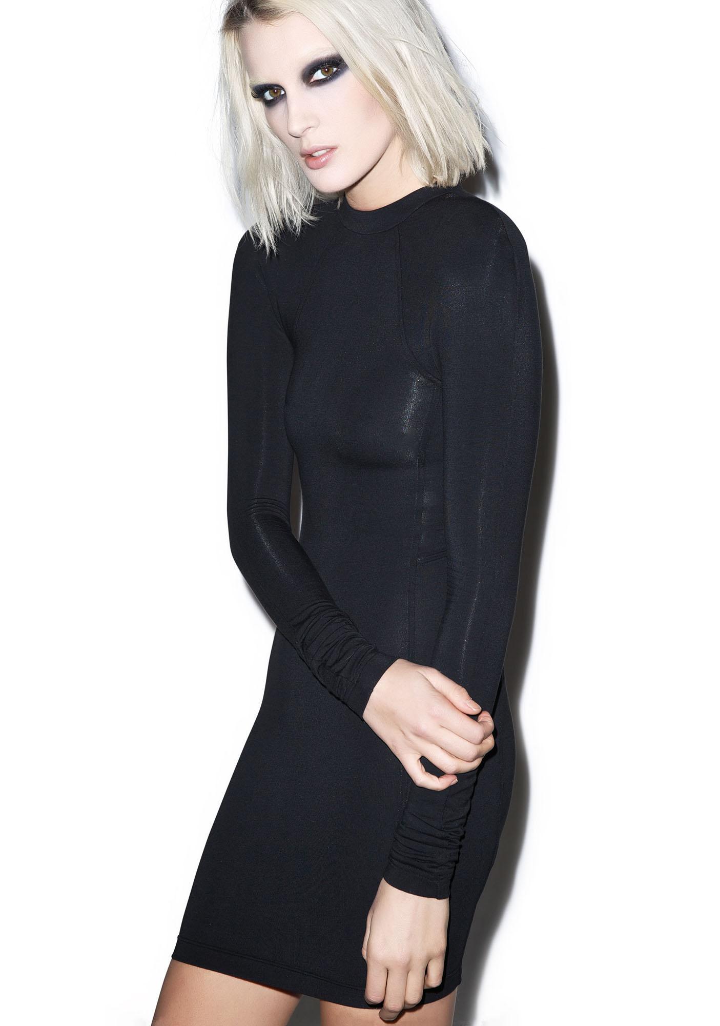 Black Scale Katka Dress
