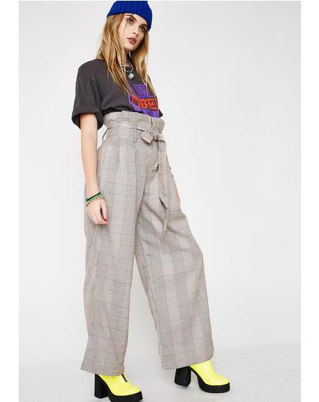 Keep It Twisted Plaid Pants
