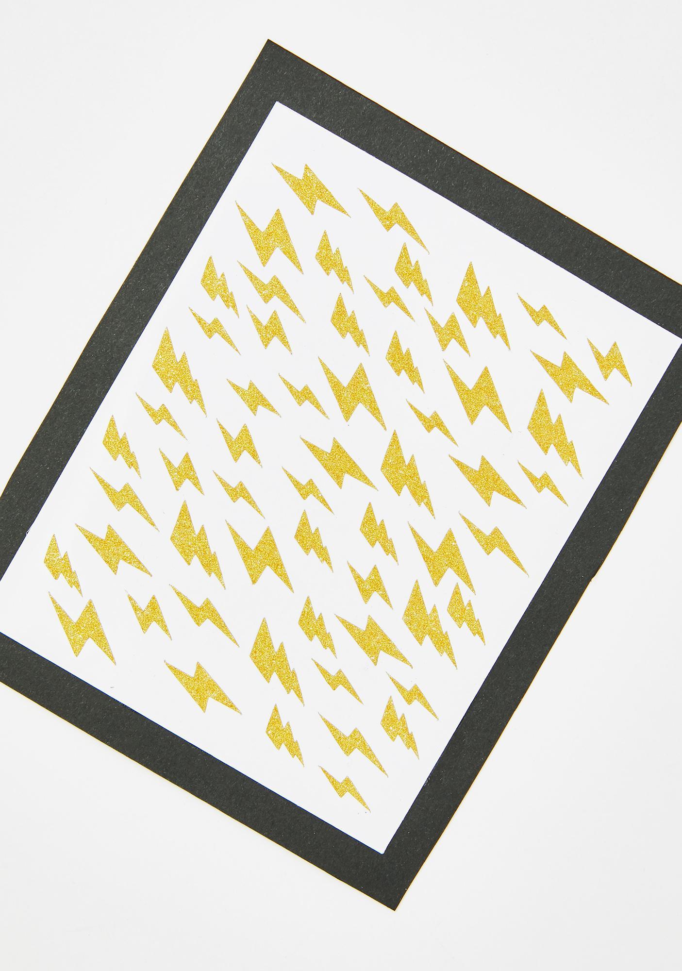 Stinnys Lightning Bolt Body N' Face Stickers