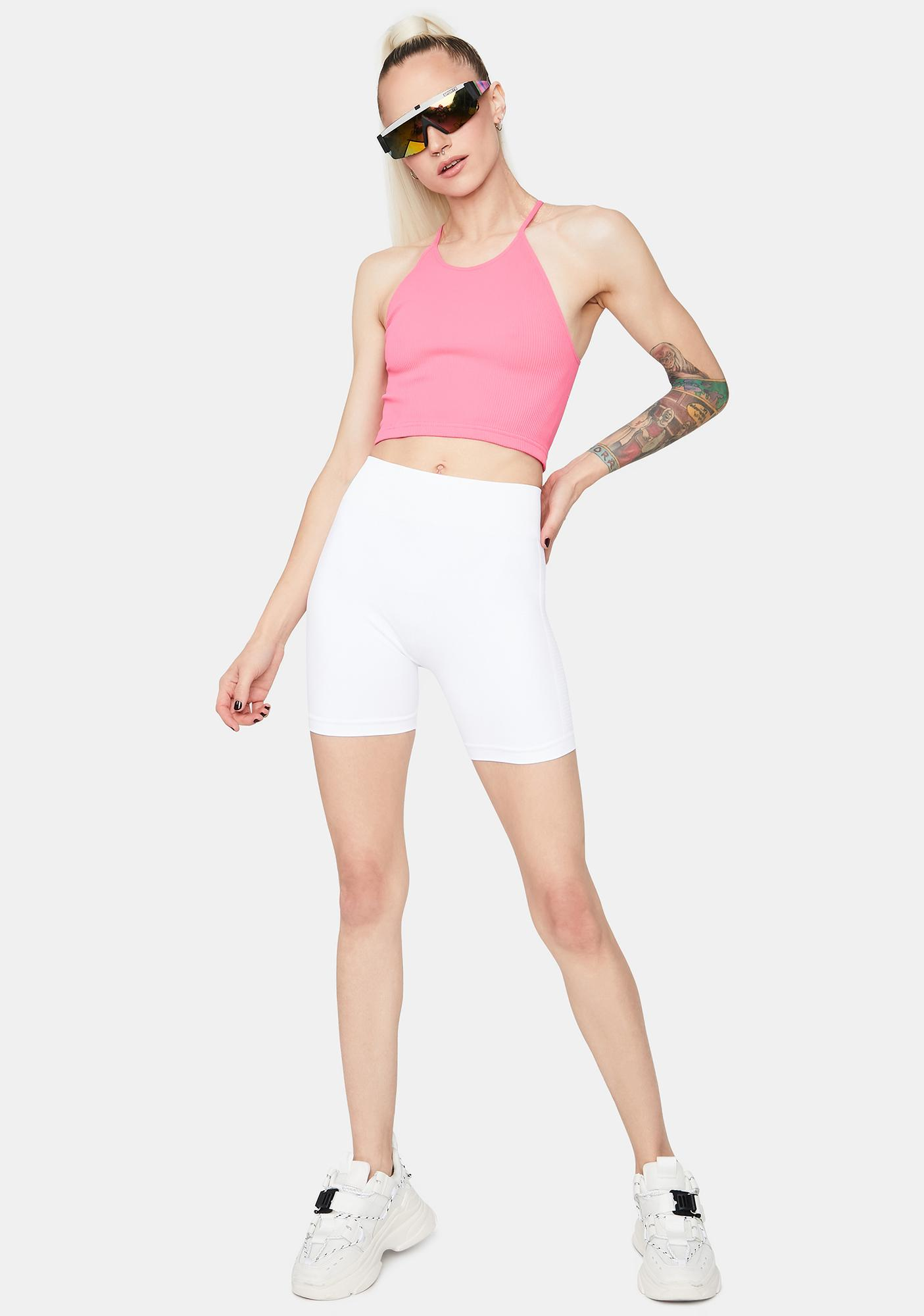 Free People Coral Happiness Runs Crop Tank
