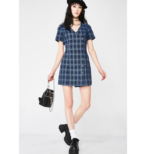 Royally Ditch Detention Plaid Dress