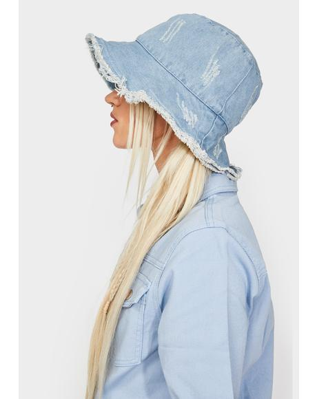 Chill Pushing Limits Denim Bucket Hat