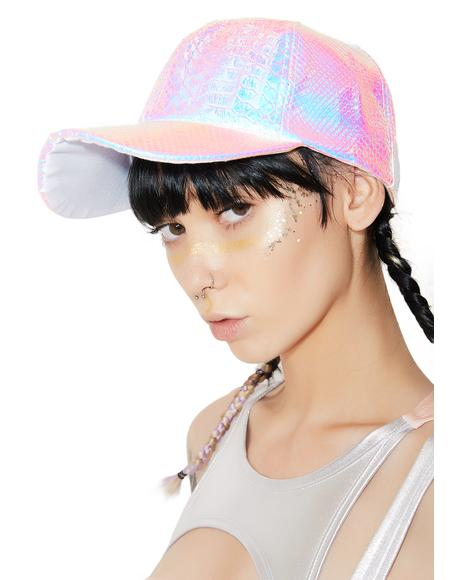 Shine Brighter Iridescent Snake Baseball Hat