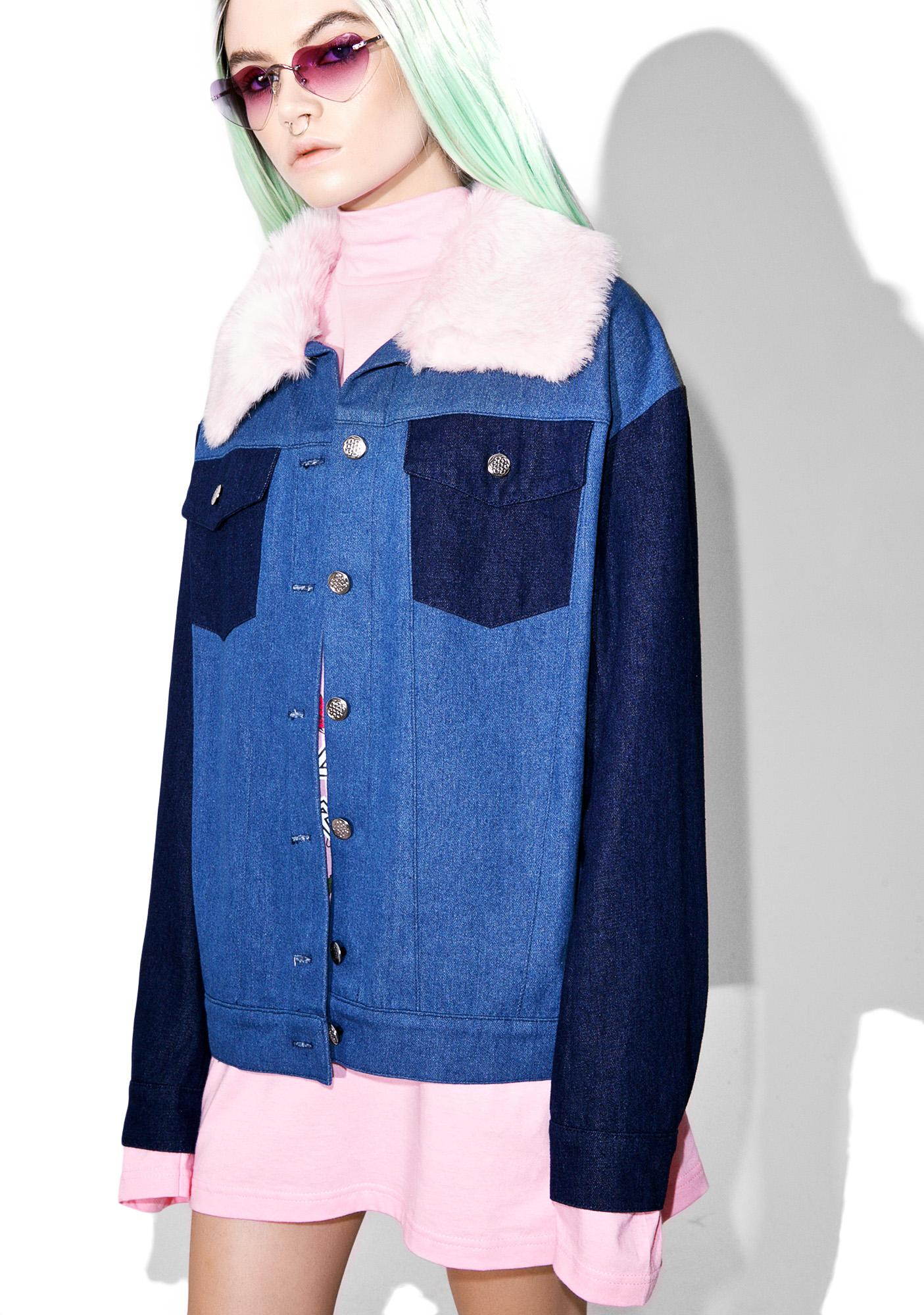 Sugarpills Fur Denim Jacket