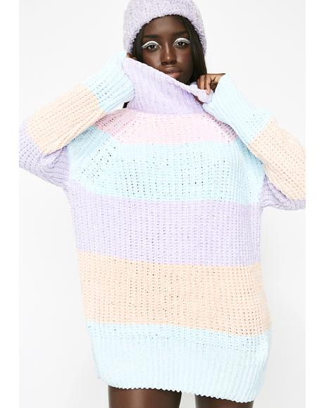 Pastel Sweetz Striped Sweater