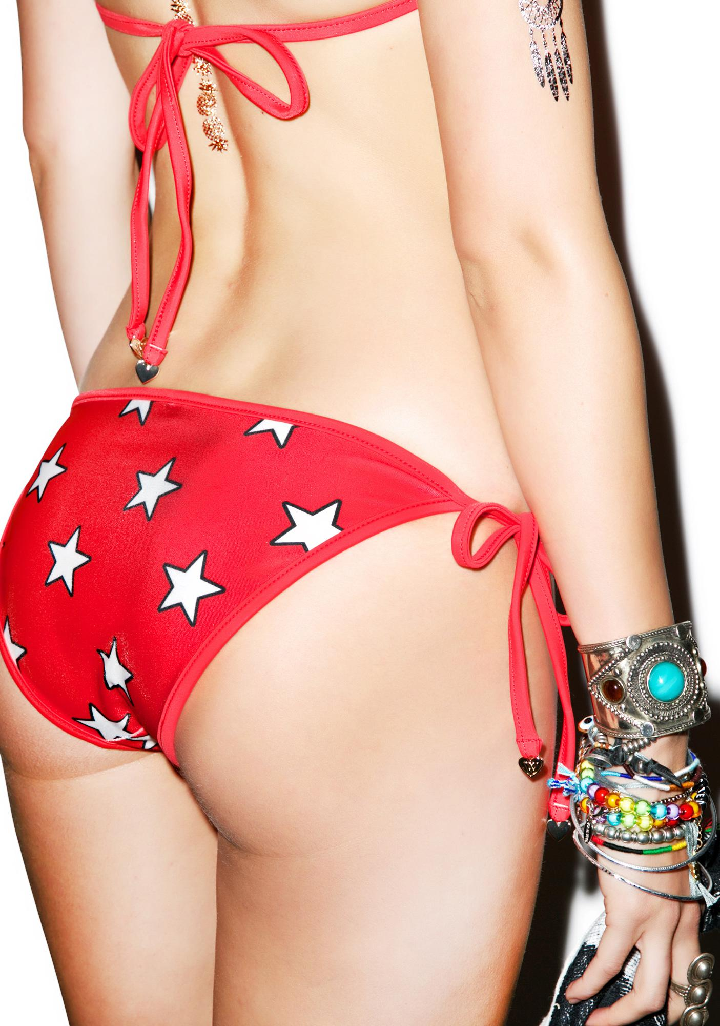Wildfox Couture Flags & Stars Contrast Reversible Bottoms