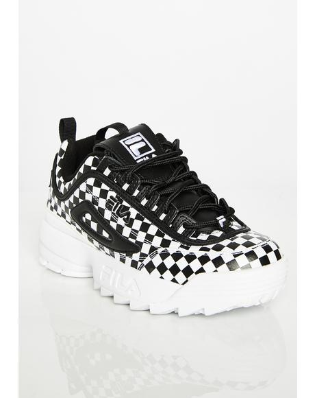 Disruptor II Checkered Sneakers