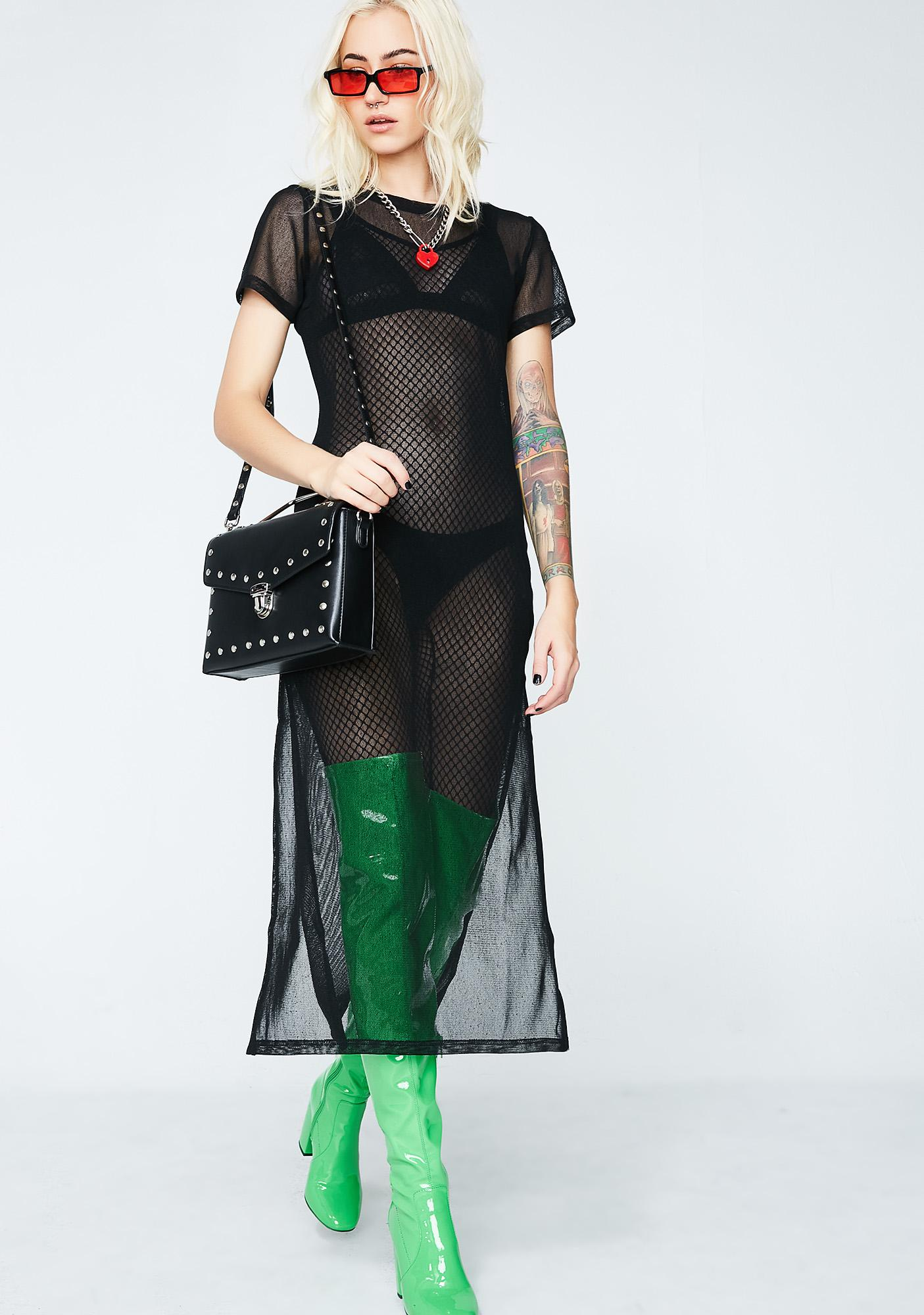 Glamorous Most Likely To Succeed Mesh Dress