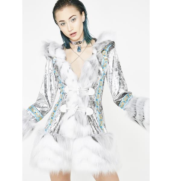 J Valentine Arctic Embrace Hooded Coat