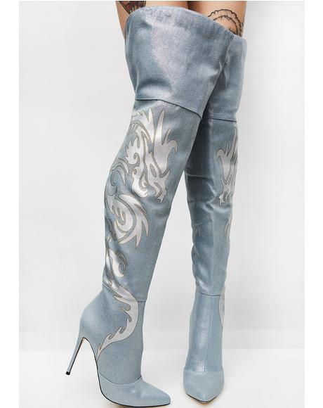 Dragon Tamer Thigh High Boots