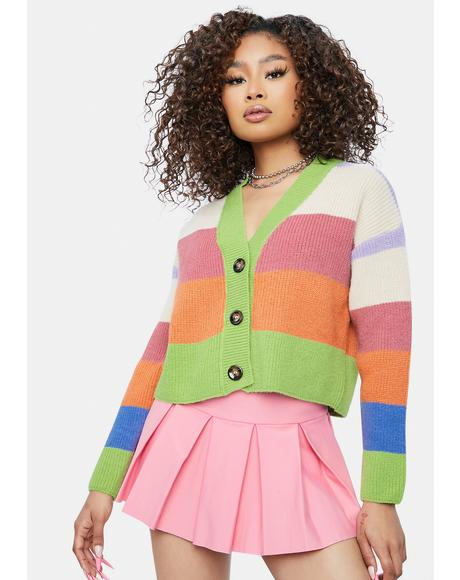 My Favorite Distraction Colorblock Cardigan
