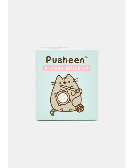 Pusheen Cross Stitch Kit