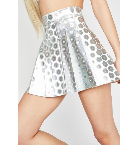 Space Vixen Holographic Skirt