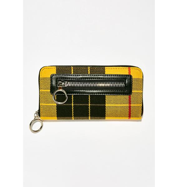 Current Mood Pay To Play Plaid Wallet