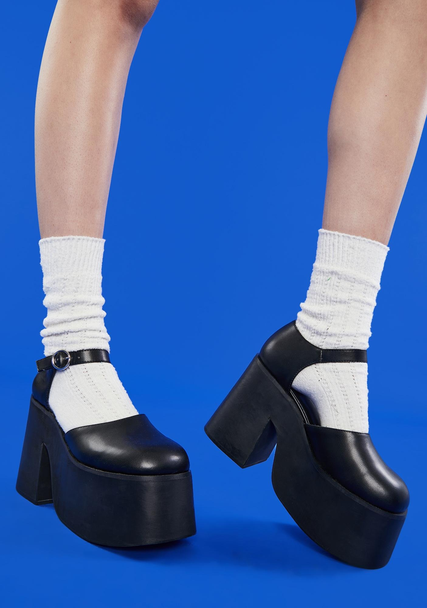 dELiA*s by Dolls Kill Cry Me A River Platform Mary Janes