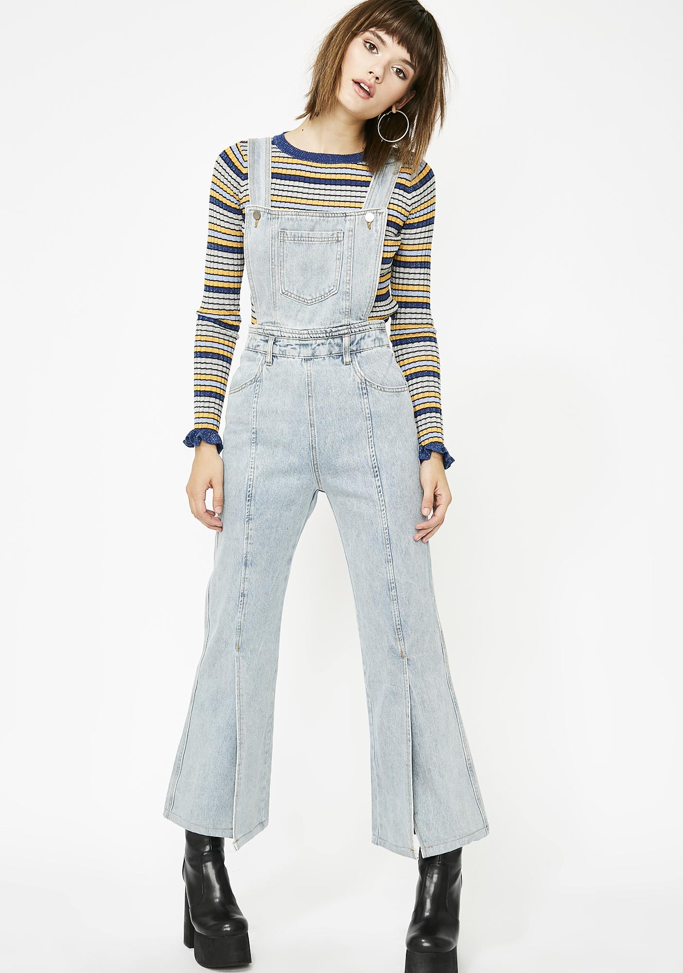 Up In Smoke Flared Overalls