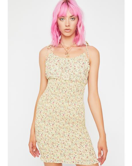 Sunny Paradise Floral Dress
