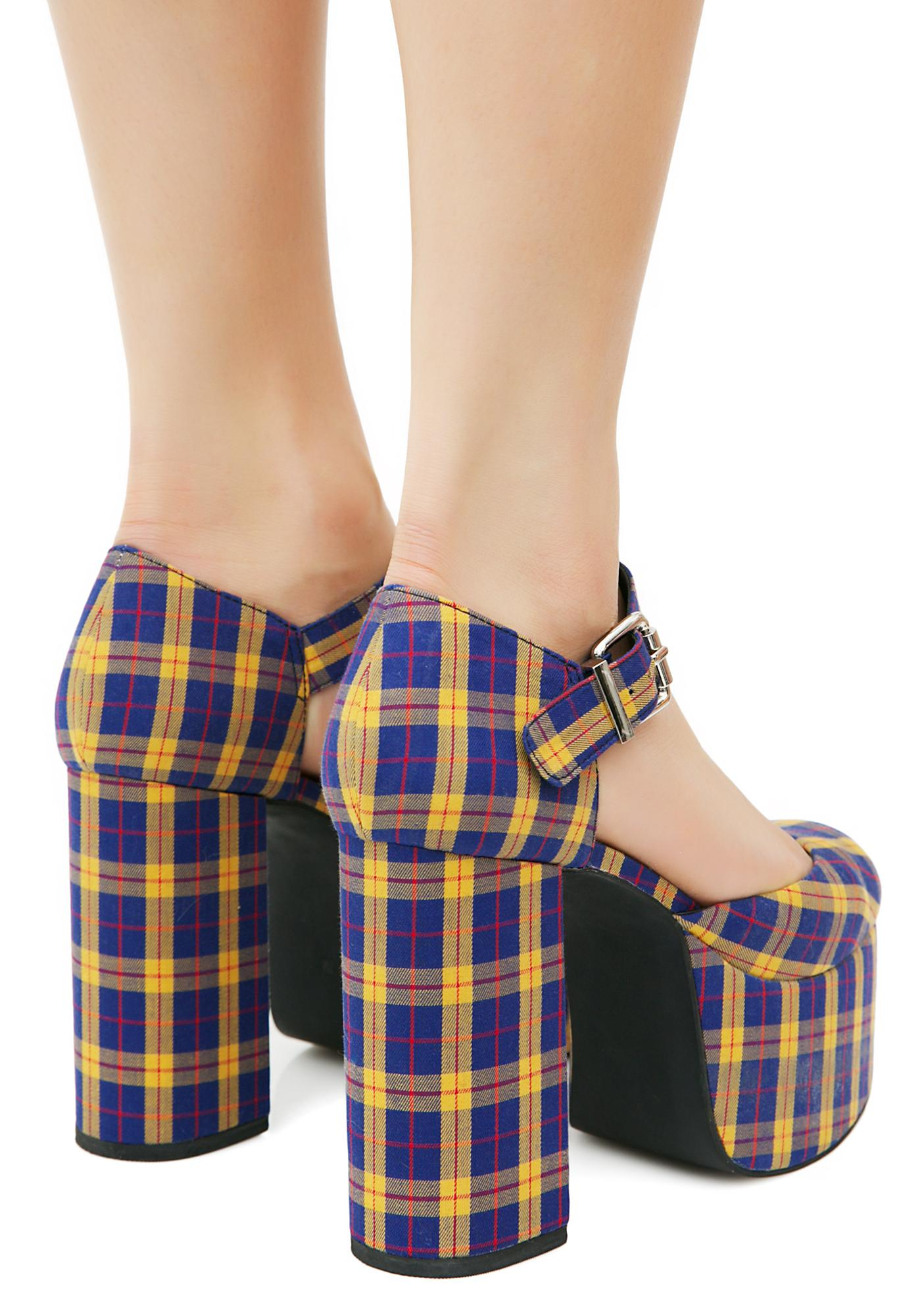 Current Mood Cher Plaid Platforms