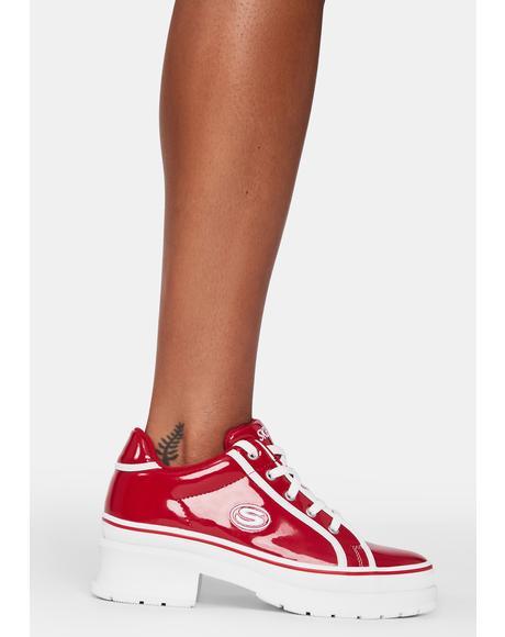 Red Heartbeat Loud Sneakers