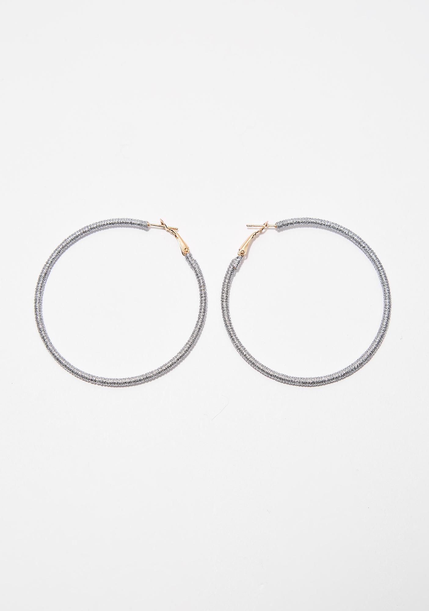 Stand Up Hoop Earrings