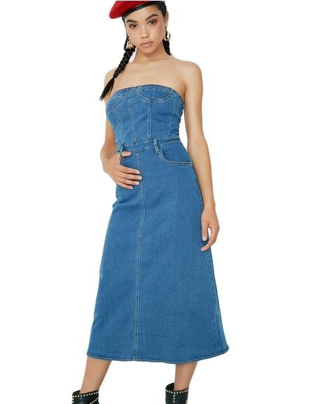 Go Figure Denim Dress