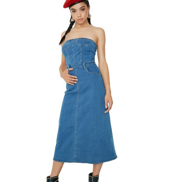 Go Figure Denim Dress