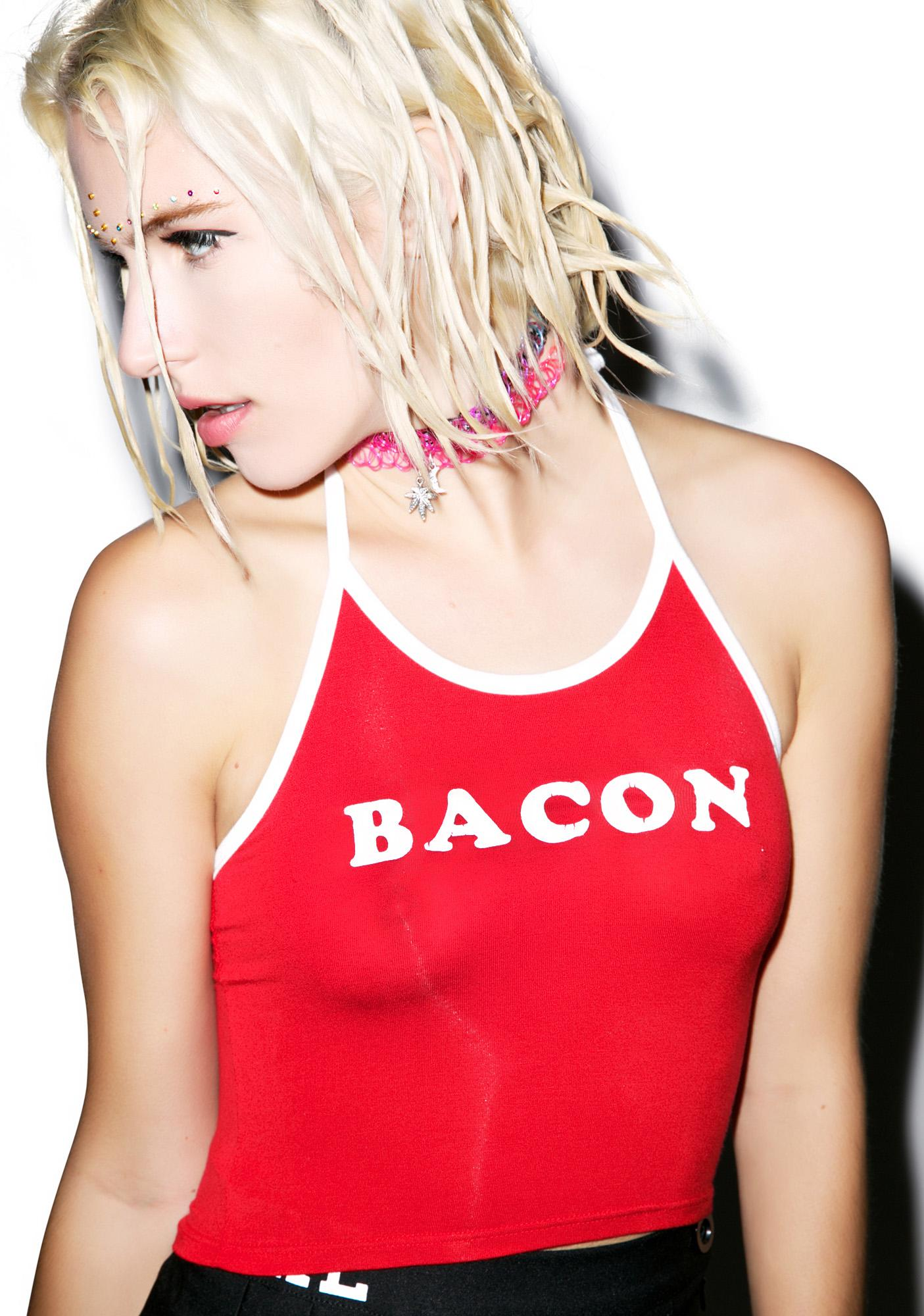 O Mighty OG Bacon Halter Top