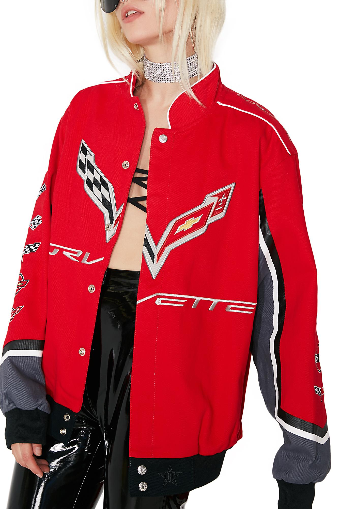 2017 Chevy Corvette Collage Twill Jacket