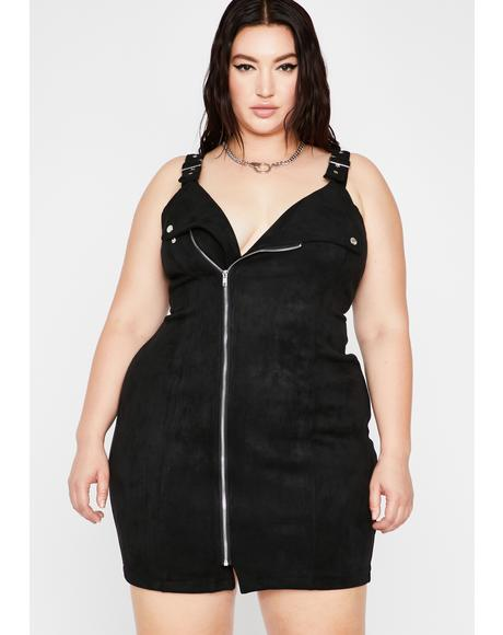 Rev Up Suede Moto Dress