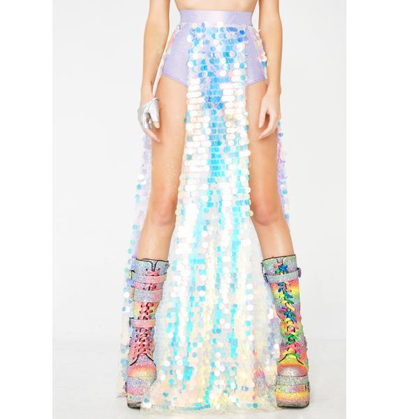 Club Exx Galactic Sunshine Sequin Skirt N' Booty Shorts