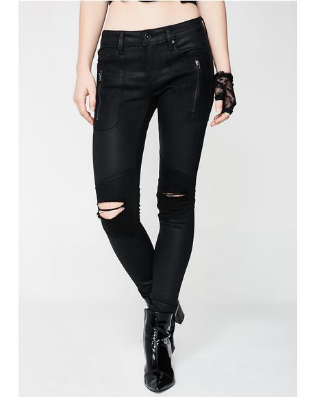 Moto Midrise Jeans
